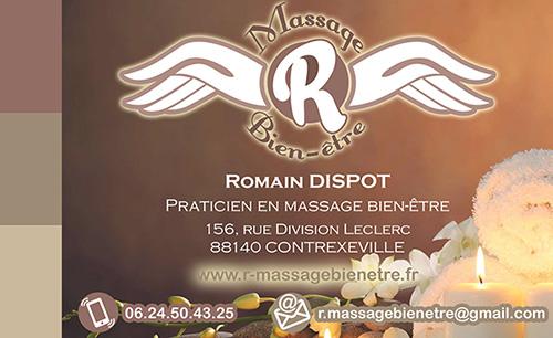 Carte De Visite Site R Massage Bien Tre