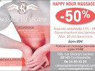HAPPY HOUR MASSAGES 50%